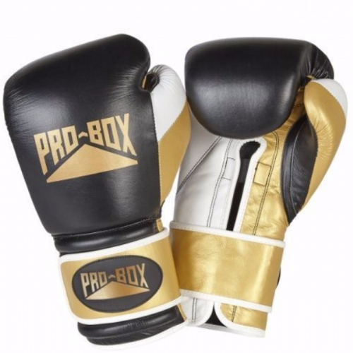 Pro-Box Special Edition 'Pro Spar' Boxing Gloves - Black/Gold
